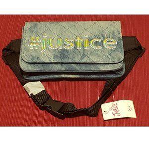 Justice Girls Belt Bag/Fanny Pack Quilted Denim